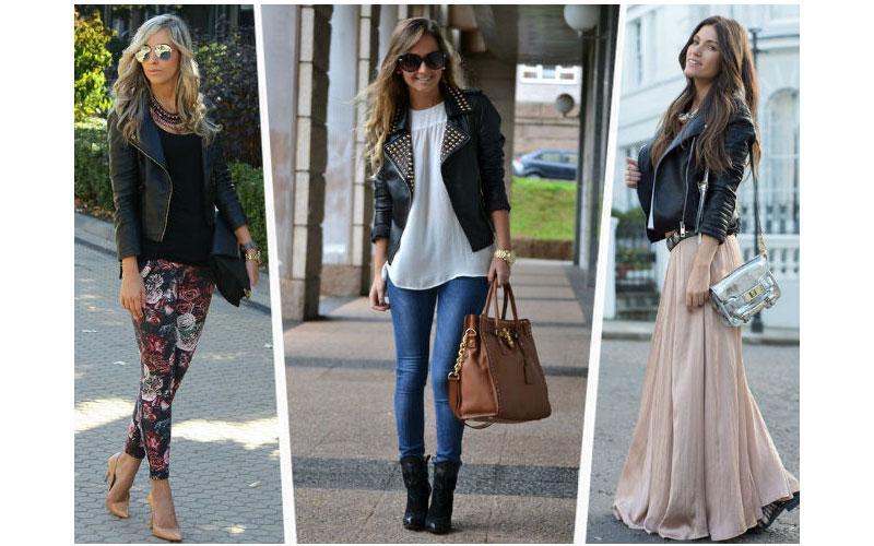 check out a252d e2cf7 4 modi per indossare una giacca di pelle nera da donna
