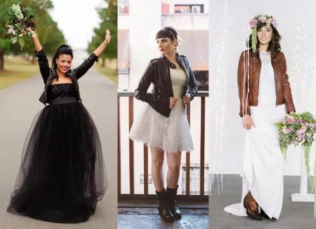 Vestito Matrimonio Uomo Rock : Vestito da sposa con la giacca di pelle per un matrimonio rock